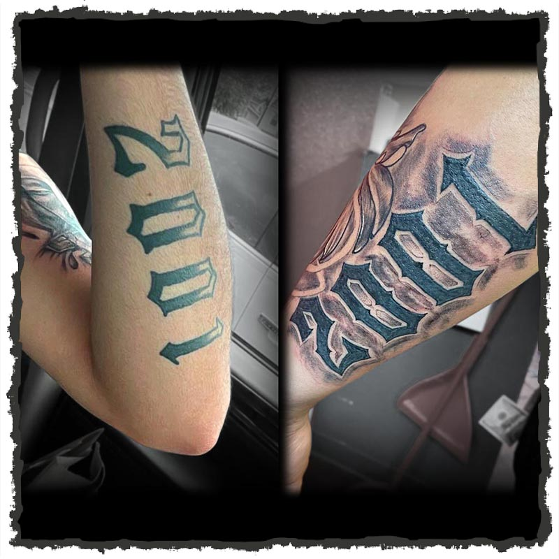 Tattoo by Carlos of 2001 Re-worked