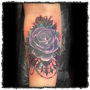 Tattoo by Lexx of a Purple Rose